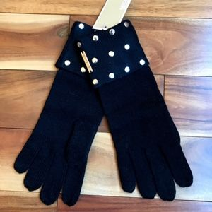 Michael Kors Chic Studded Black GLOVES New!!!